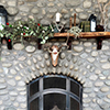 Rustic Mantel with Holiday Decor
