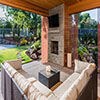 Outdoor Living Patio and Fireplace