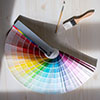 Color Swatches and paintbrushes