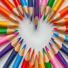 Colored Pencils in heart