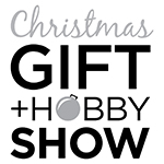 Christmas Gift and Hobby Show Logo Black & White