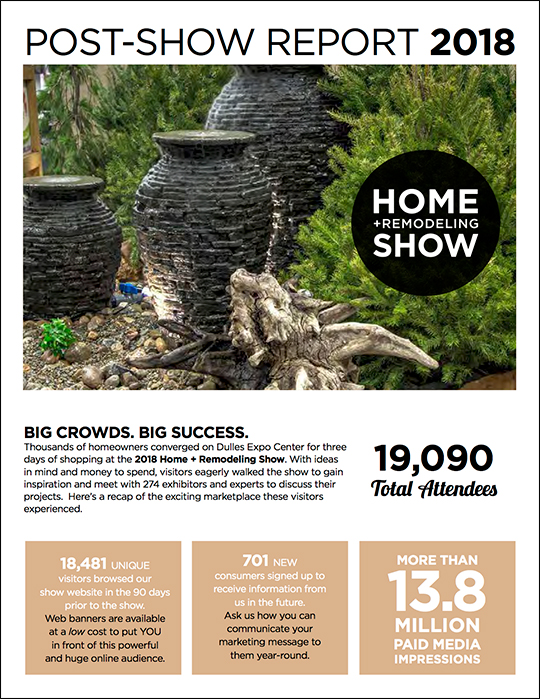Home + Remodeling Post Show Report Cover 2018