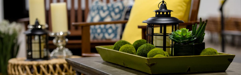 home decor green centrepiece