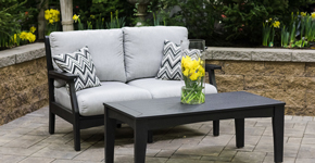 gray outdoor living sofa