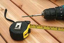 Tape measure and drill