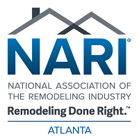 Blue and black Nari logo