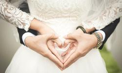 heart-shaped hands