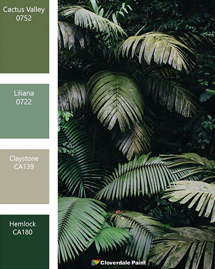 Green Paint Palette Cloverdale Paint