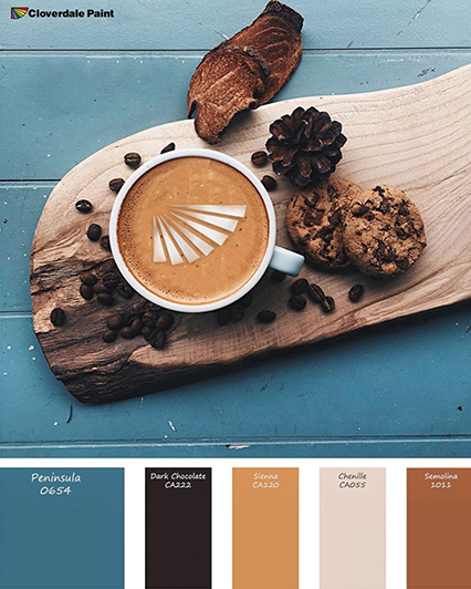 Blue and Tan Paint Palette Cloverdale Paint