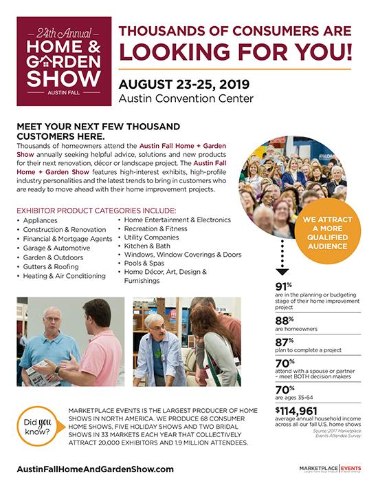 Austin Home And Garden Show 2020.Show Profile For The Austin Fall Home Garden Show