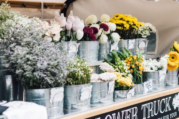 Buckets of Fresh Flowers