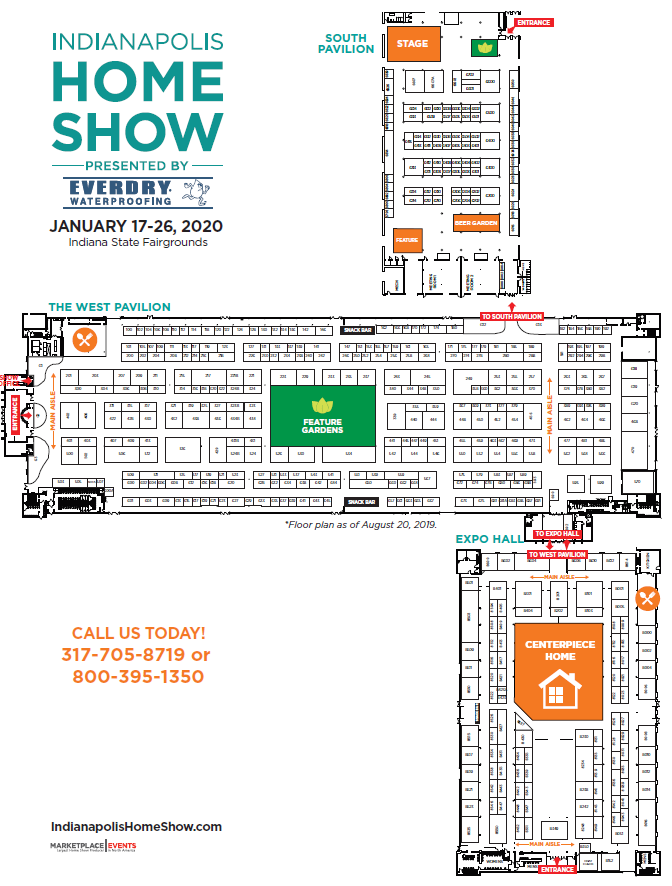 Indianapolis Home Show 2020.Floor Plan Exhibitor Rates Contract For The Indianapolis