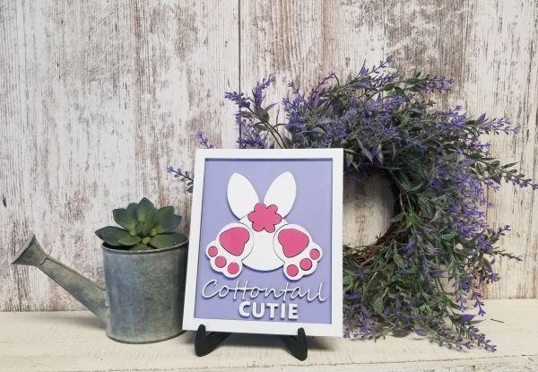 Cottontail Cutie Sign