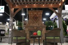 Outdoor Living Patio Chairs + Fireplace