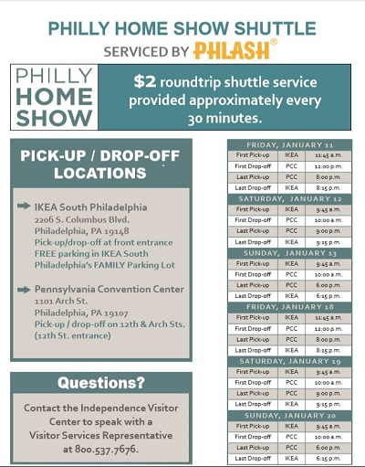 Philly PHLASH Schedule 1