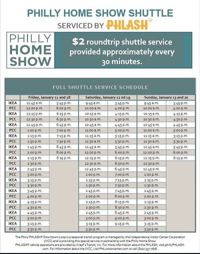 Philly PHLASH Schedule 2