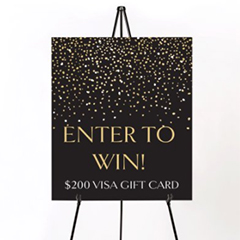 Enter to win a Visa Gift Card banner