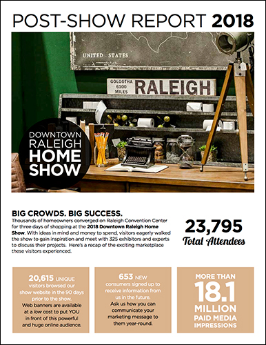 Downtown Raleigh Home Show Post Show Report Cover