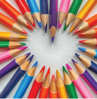 Heart Colored Pencils