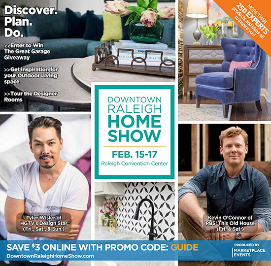 Downtown Raleigh Home Show show guide cover