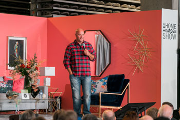 HGTV Canada Celebrity Contractor Bryan Baeumler on stage