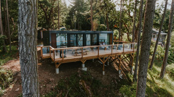 Modular Container Home in the woods