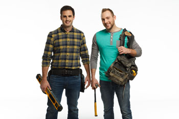 HGTV Canada hosts of Worst to First Mickey Fabbiano and Sebastian Sevallo