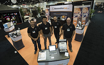 RenovationFind Team standing at the show