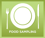 Food Sampling button