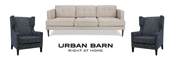 Urban Barn sofa with two chairs