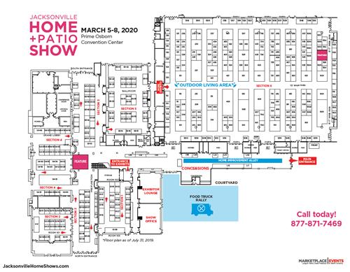 2020 Spring Jacksonville Home + Patio Show Floor Plan 7-31-19