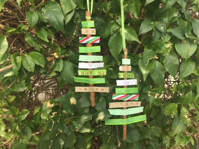 Christmas Tree made of Ribbons