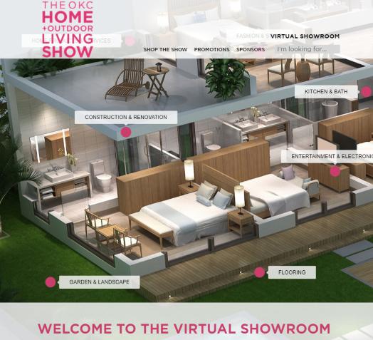 OKC Home + Outdoor Living Show's Virtual Showroom Screenshot