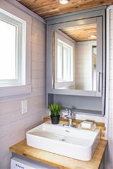 Inside of Tiny Home - Bathroom Vanity