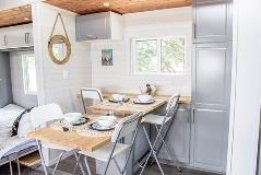 Inside of Tiny Home - Dining and Pantry