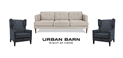 Urban Barn sofa and two armchairs