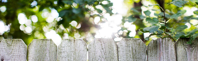 Fence in a garden