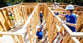 Habitat for Humanity volunteers