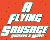 A Flying Sausage logo