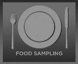 Food Samping Button