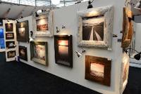 Room full of paintings