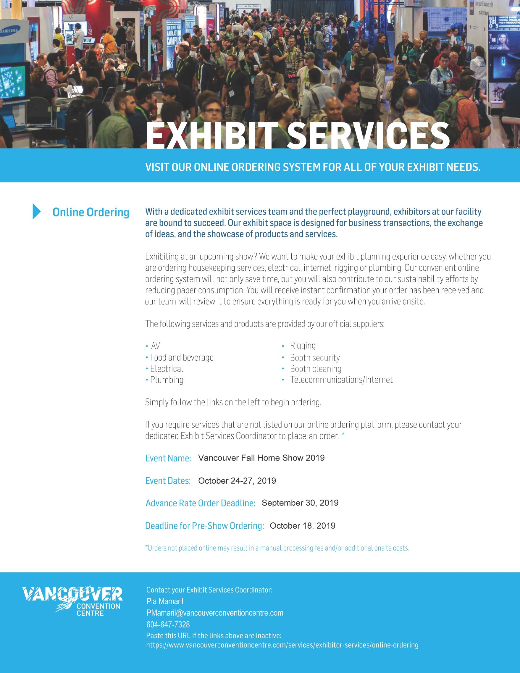 Exhibitor Kit - Vancouver Fall Home Show