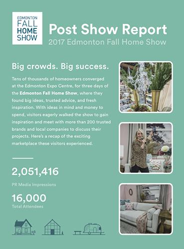 Edmonton Fall Home Show Post-Show Report Cover
