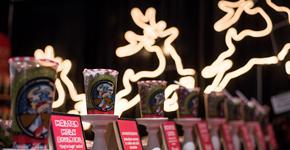 Christmas crafts with reindeer display