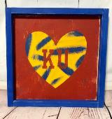 KU Heart - Red, Blue, Yellow