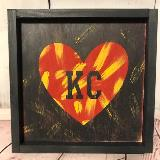 KC Heart - Red & Yellow