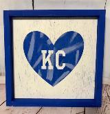 KC Heart - Blue & White