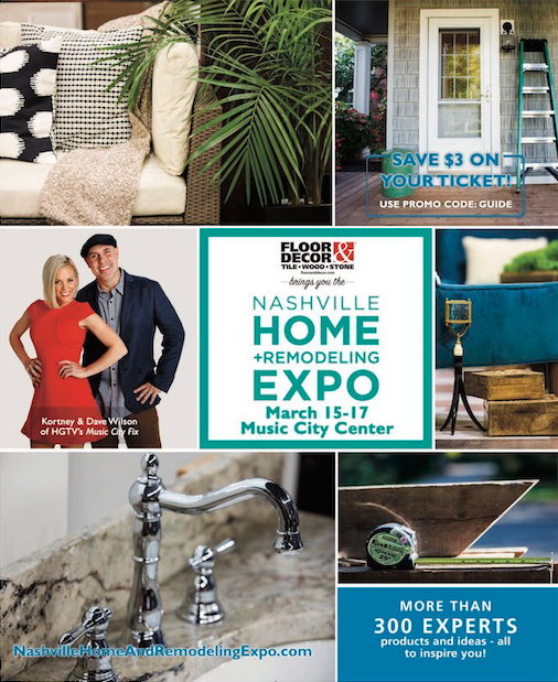 Show Guide For The Nashville Home And Remodeling Show