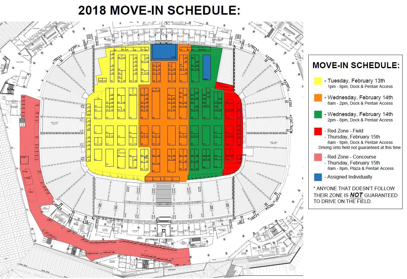 2018 move in schedule
