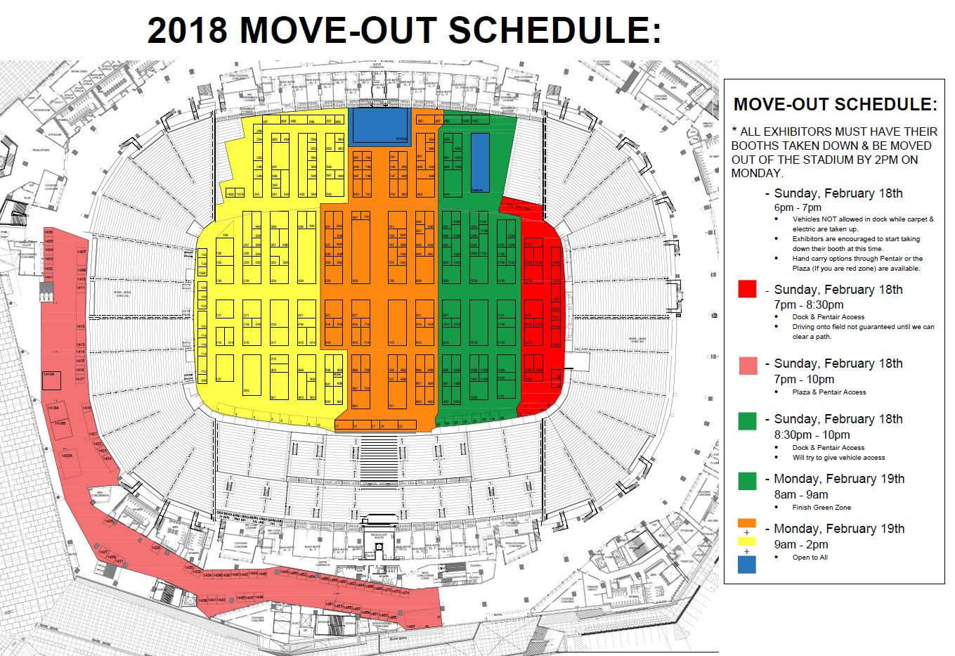 2018 move out schedule